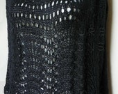 The Scallops And Lace Poncho / Capelet -  In BLACK