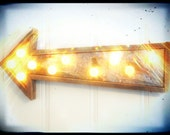 Light fixture vintage electric arrow metal barn wood industrial metal - WestVintageTradingCo