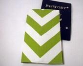 Chevron Passport Cover green chevron passport case wallet - redmorningstudios