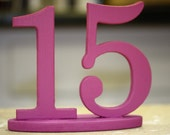 Purple or Fuschia Wedding Table Numbers, Freestanding 3D Numbers - ZCreateDesign