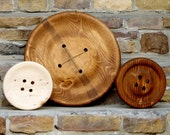 Enormous 17 Inch Wooden Button - Pottery Barn Style Wall Decor - Giant Wood Button - Huge Button - Big Button