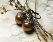 Enchanted Woodland Natural Acorn Earrings