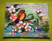 Spring time- needle felted art - Indrasideas