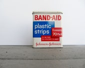 Vintage Band Aid Tin, Metal Box - Modred12