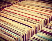 Vintage Vinyl Record Collection 8x10 Fine Art Photograph, Other Sizes Available - EyeShutterToThink