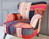Thai Hmong  patchwork armchair