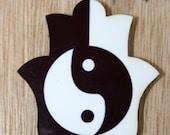 Ying & Yang  printed  Hamsa magnet - galit64