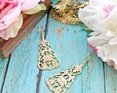 Simply Gypsy Earrings. Bohemian Earrings. Gypsy. Boho Chic Earrings. India Inspired. Gifts for her. Modern Romance. - rosesandlemons