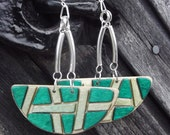 Wooden earrings from Finnish birch aircraft plywood - BeautyByLin