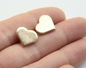 Heart Earrings - Gold Heart Stud - 24k Gold plated - TheUrbanLady