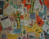 Vintage Ephemera - Mixed Pack of Over 25 Game Pieces and Cards - TeaAndLaundry