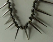 Nora Nori: beach punk sea shell spike necklace OOAK - AllTheFrills