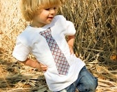 Little GQ Boys Tie Shirt - spring, easter, wedding, toddler custom order size and fabric you would like - AdorableFindings
