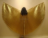 Cute Golden Lame Bellydance Costume ISIS WINGS - isisbazaar