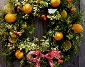 Summer Spring Wreath Boxwood Fern-Lemon-Summer-Front Door - forevermore1
