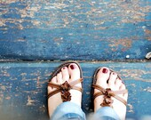 FEET 8x10 print - Fine Art Photography - People, feet, blue, wood - BibertaPhotography