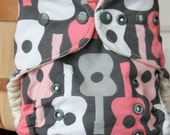 Organic Cotton Pink Guitar One Size Cloth Diaper Cover