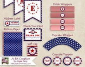 Graphic Design - Patriotic - 4th of July - Independence Day Party - Elite Package - DIY Printable - ABitCreativeAMP