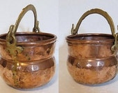 Small Copper Pot Hammered, Dovetailed Seams - yellowfeathr