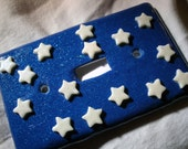 Glow in the Dark Stars w/Blue Night Sky Light Switch Plate, Perfect for Kids