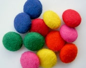 12 bright felt fabric buttons for sewing and crafts (15mm / 1.5cm) - nataliescrafts1