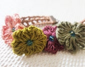Spring Garden Flowers Bohemian Summer Party Graduation Bright Colors Crystal Bracelet Cuff Blush Pink,Olive Green Wine Red Khaki Wonderland - sukran