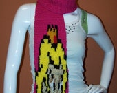 Princess Peach Scarf Pink Mushroom Pin  Crochet Limited Edition Gammer