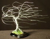 Small Wind Swept Wire Tree Sculpture
