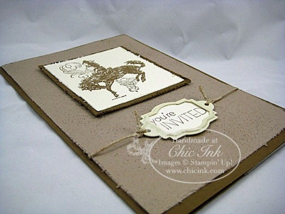 DEPOSIT Western Themed Wedding Invitation From ChicInkInvitations