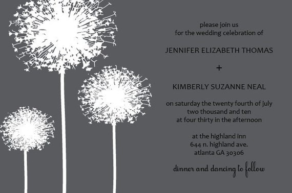 Dandelion Invitation
