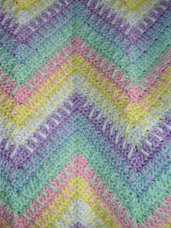 Free Double Crochet Ripple Baby Afghan Pattern Easy