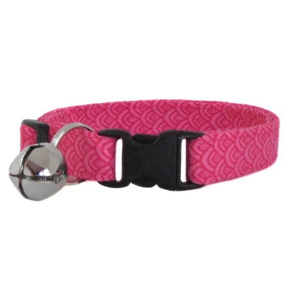 Cotton Cat Collar (Pink Salmon)
