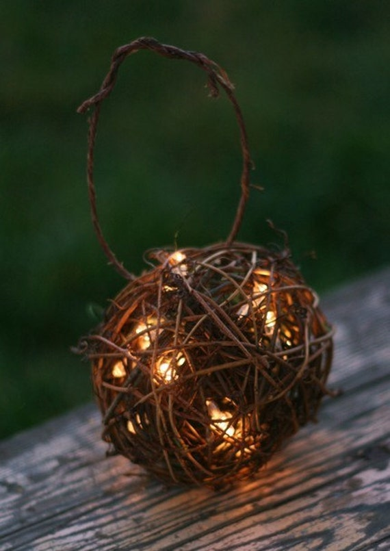 SET OF 6 Outdoor Rustic Wedding Decoration Candles Firefly Lightning Bug