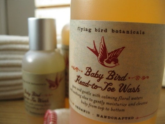 baby bird head-to-toe wash...100% organic baby wash and shampoo