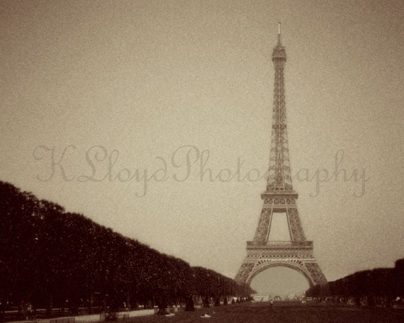 Eiffel Tower, Circa 1900s - 8x10 Fine Art Travel Photography Print - Paris France City of Love Vintage Romantic Style Home Decor Photo