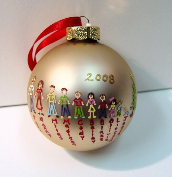 Family Loved Ones ( 1-5 People/Pets ) - Custom Personalized Ornament