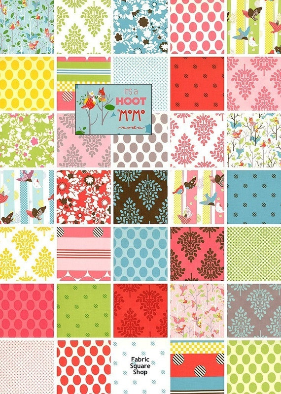 Moda ITS A HOOT Charm Pack Fabric Squares Kit