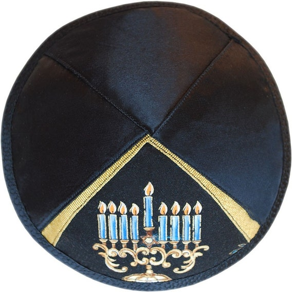 Hanukkah jewish kippah / yarmulke