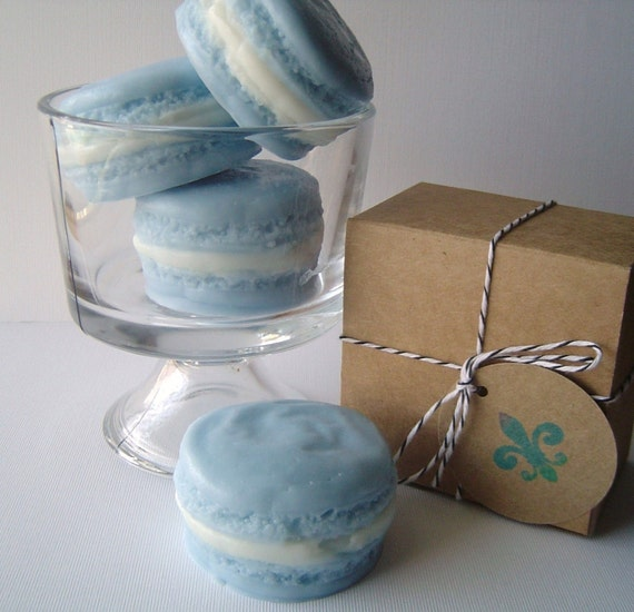 SOAP-French Macaron Collection-Goat's Milk Soap-Blueberry Delight Scent