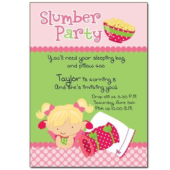 slumber party invitation wording – gangcraft, Party invitations