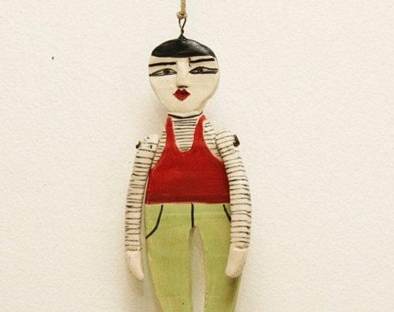 French Man -------- Ceramic Marionette.
