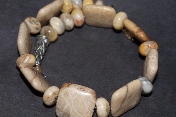 Beige Bracelet....Agate Stone