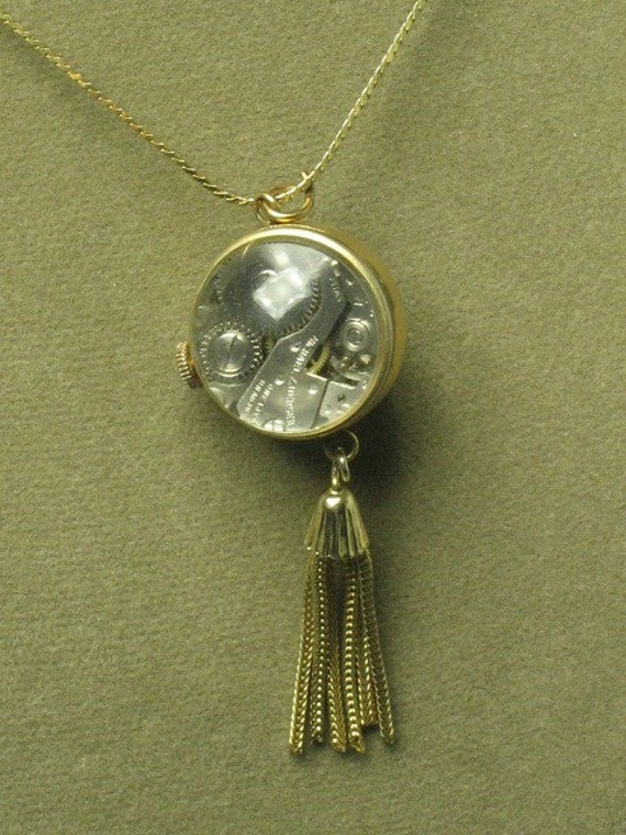 1970s -- BUBBLE Watch Necklace from Mom - not working - hope someone will up-cycle