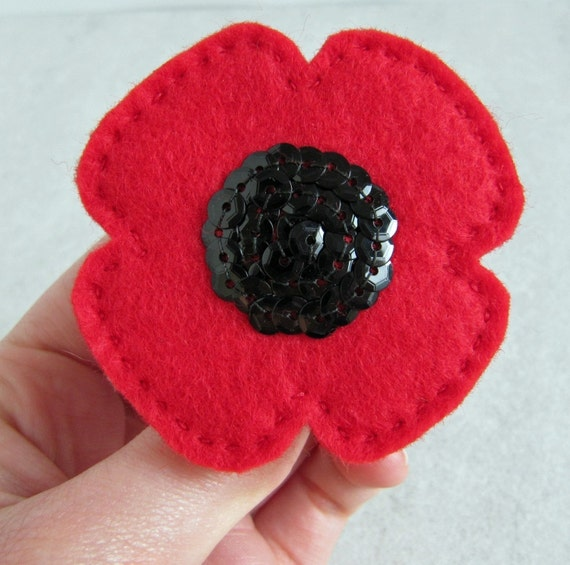 Poppy brooch - supporting the Royal British Legion Poppy Appeal 2011