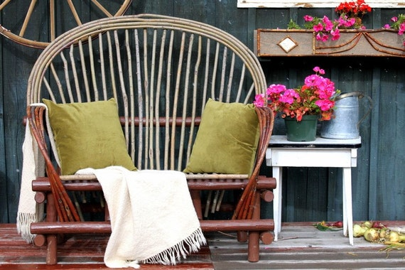 Woodland Romance Rustic Bent Willow Loveseat
