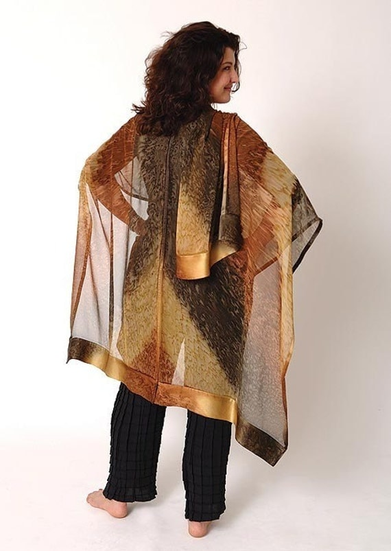 AMBER Hand Painted Silk Ruana