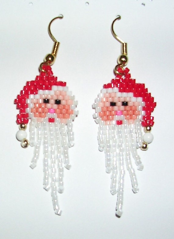 Santa Earrings - Fringe Beard