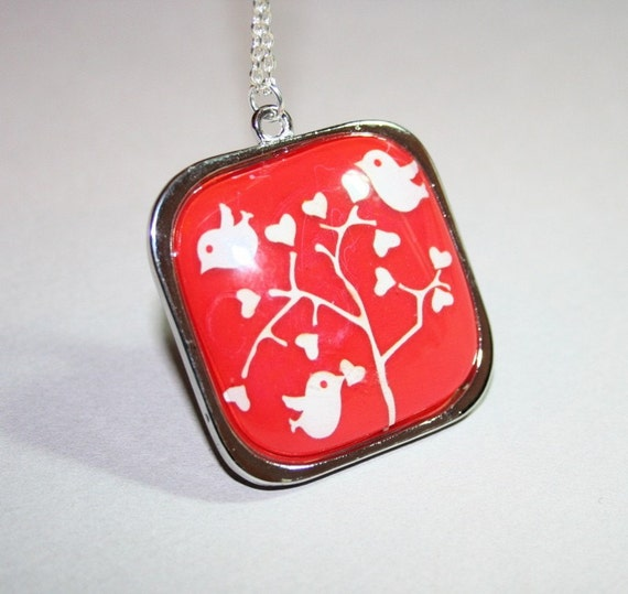 Birds Setting in Tree Necklace by smilesophie on Etsy