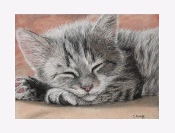 ACEO Print Cat Nap