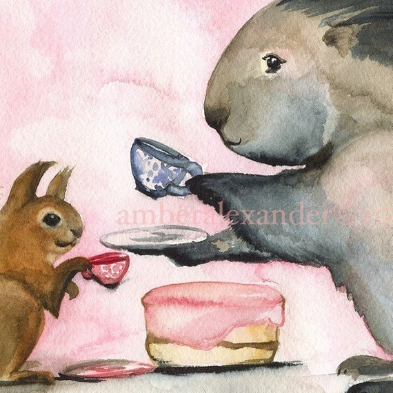 Tea and Cake Archival Print